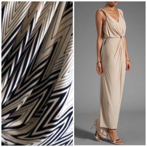 Tbags Drape Front Maxi Dress